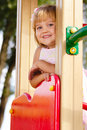 Little girl at the playground Stock Image