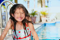 Little girl at the pool having fun Stock Photography