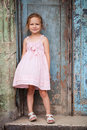 Little girl portrait outdoors of adorable on a street of old havana Royalty Free Stock Photos