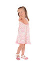 Little girl posing and smiling Royalty Free Stock Photos