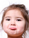 Little Girl Pout Royalty Free Stock Images