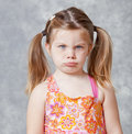 Little girl with pout Royalty Free Stock Photo