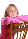 Little girl pouting Royalty Free Stock Images
