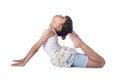 Little girl practicing yoga Royalty Free Stock Photo