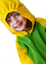 Little girl with raincoat Royalty Free Stock Photo