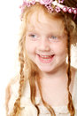 Little girl with red hair cute cunning Stock Image