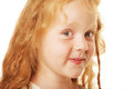 Little girl with red hair cute cunning Royalty Free Stock Image