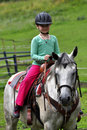 Little girl riding Stock Photo