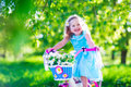 Little girl riding a bike Royalty Free Stock Photo