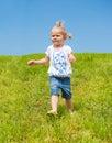 Little girl running Royalty Free Stock Photo