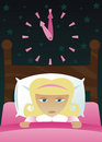 Little Girl's got Insomnia Royalty Free Stock Photo