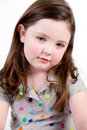 Little Girl with sad face Royalty Free Stock Images