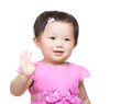 Little girl say hi Stock Photography