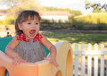 Little Girl Screaming Royalty Free Stock Photo
