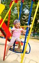 Little girl on seesaw Royalty Free Stock Photography