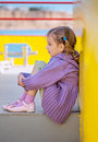 Little girl sitting Royalty Free Stock Images