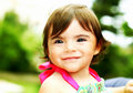 Little girl smiling, closeup portrait Royalty Free Stock Photos