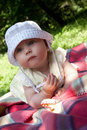 Little girl, solar summer day Royalty Free Stock Photos