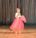 Little girl soloist Royalty Free Stock Photo