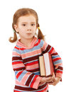 Little girl in striped sweater Stock Image