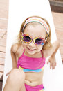 Little girl sunbathing Royalty Free Stock Photo
