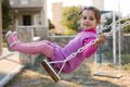 Little Girl Swinging Royalty Free Stock Photo