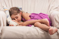 Little girl taking nap Royalty Free Stock Image