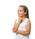Little girl thinking Royalty Free Stock Photo