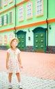 Little girl tourist Stock Image