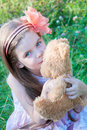 Little girl with a toy Royalty Free Stock Photo