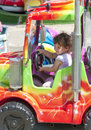 Little girl in truck Stock Photo