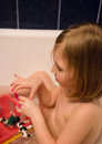 Little girl in tub Royalty Free Stock Photo