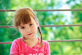 Little girl with two plaits Royalty Free Stock Image
