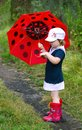 Little girl with an umbrella Royalty Free Stock Images