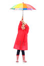 Little girl with umbrella. Royalty Free Stock Photo