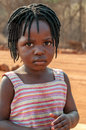 Little Girl from Victoria Falls Royalty Free Stock Photo