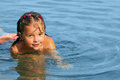 Little girl in the water Stock Image