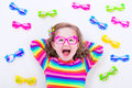 Little girl wearing eyeglasses Royalty Free Stock Photo