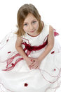 Little girl in wedding dress Royalty Free Stock Photos
