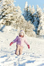 Little girl in winter Royalty Free Stock Photos