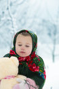 Little girl in winter Royalty Free Stock Photography