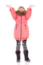 Little girl in winter clothing Royalty Free Stock Images