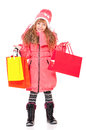 Little girl in winter clothing Royalty Free Stock Photo