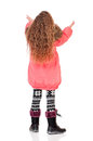 Little girl in winter clothing Stock Photos