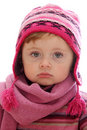 Little girl with winter ha Royalty Free Stock Photography