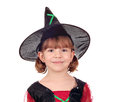Little girl witch halloween beautiful Royalty Free Stock Images