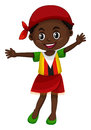 Little girl in Zimbabwe clothes Royalty Free Stock Photo