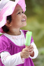 Little girls holding an ice cream Royalty Free Stock Photo