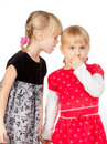 Little girls sharing a secret Stock Photography