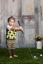 Little Golfer Royalty Free Stock Photo